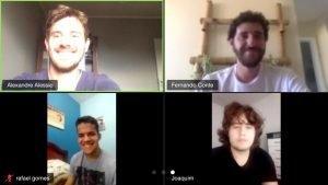 mentoria em formato video chamada com jovens do Projeto Futuro do Rio Doce