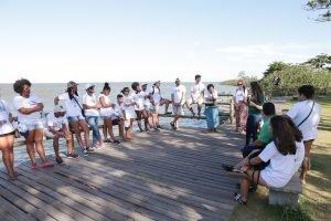 Visita de campo dos jovens do projeto Futuro do Rio Doce em 2019