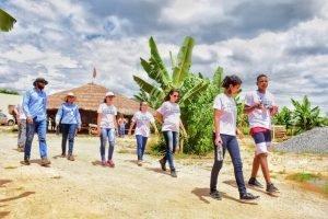 Visita de campo com os jovens participantes do Projeto Futuro do Rio Doce em 2019